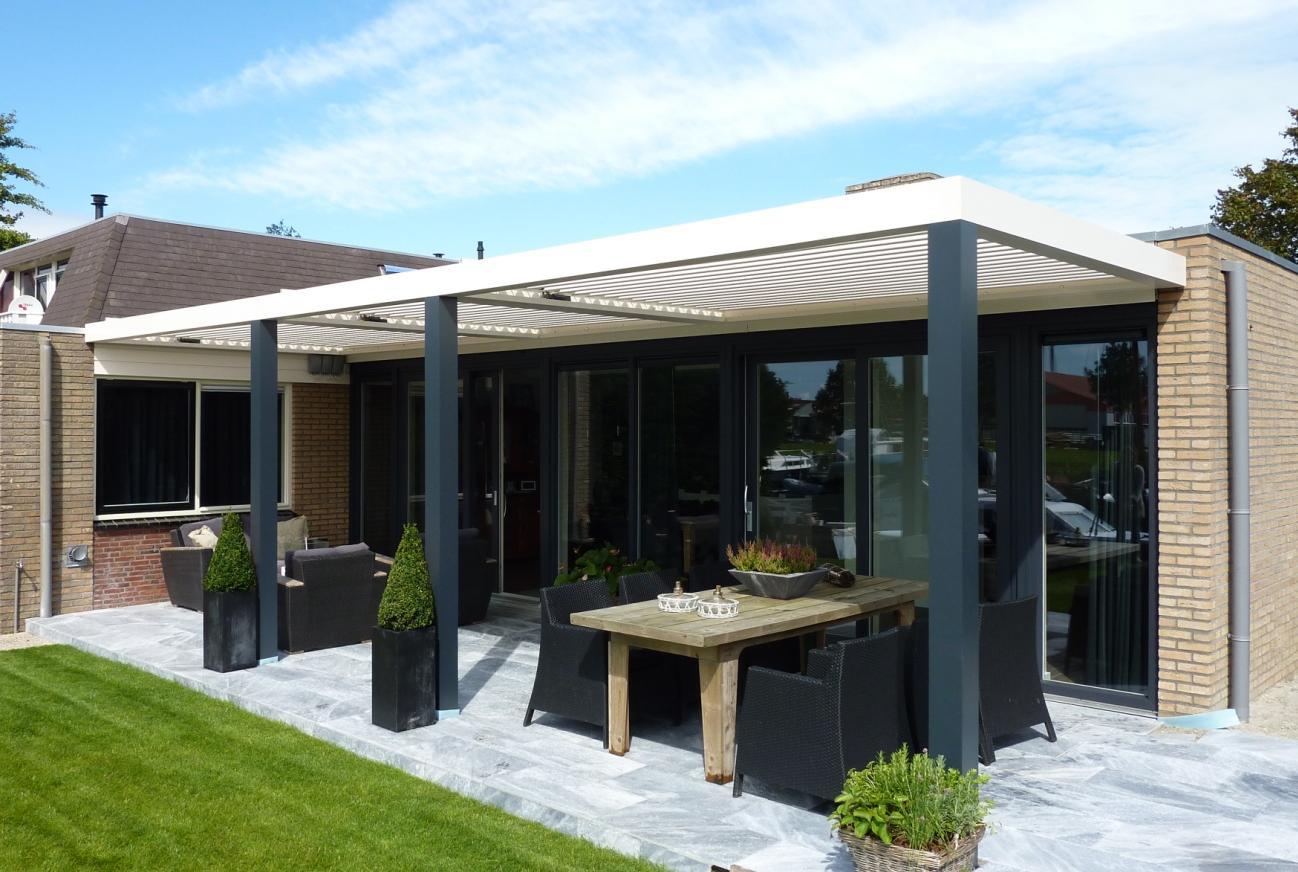 4 seizoenen overkappingen voor comfort op terras en tuin i biossun - Buitenkant terras design ...